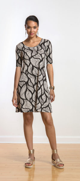 Sharon dress in Leaf design