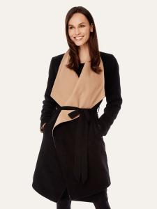 Fall ladies coat | Contract kimono coat by Yumi