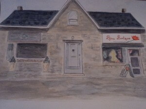 Artisit painting of Bijou Boutique