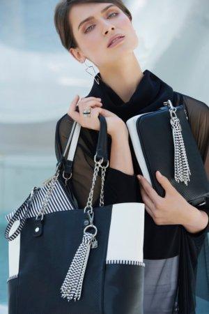 Joseph Ribkoff purses - Black with white