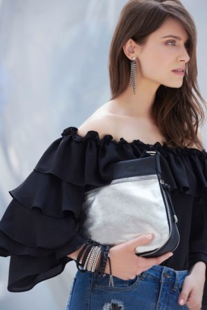 Joseph Ribkoff purses - Silver / black