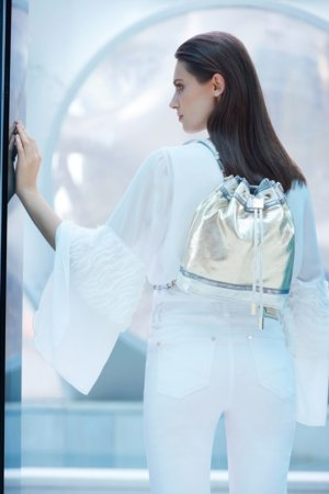 Joseph Ribkoff purses - Silver gloss back pack